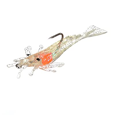 Storm Wildeye Live Shrimp Soft Lure WLSP02 WLSP03 Craw Creature Softbait Plastic Fishing Lures - Pack of 3 by Storm