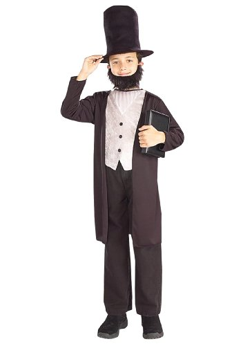 Lets Party Abraham Lincoln Child Costume - Size Medium 8-10
