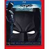 The Dark Knight LIMITED EDITION BLU-RAY Two-Disc Special Edition + Digital Copy with Exclusive Batman Mask Packaging plus Exclusive 40 Minute Featurette) ~ Christian Bale, Heath Ledger, Maggie Gyllenhaal, and Aaron Eckhart