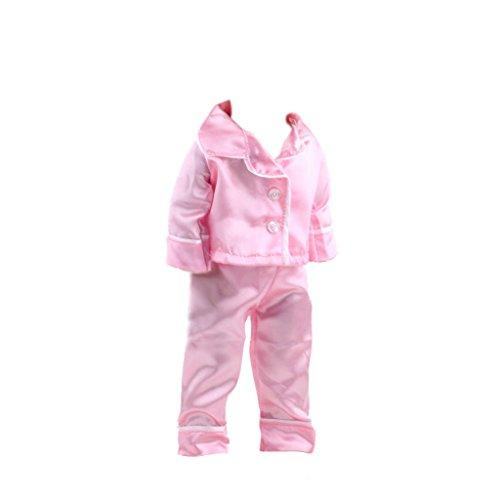 Pyjamas Vêtements Roses Fixés Pour 18 Pouces American Girl Doll