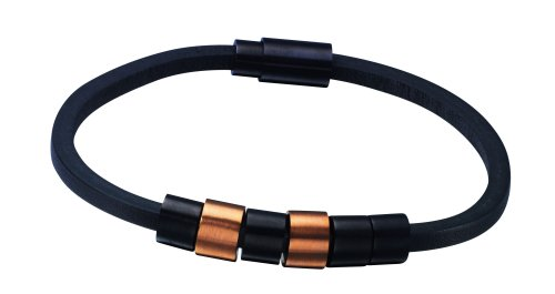 Police Sixpack Leather Bracelet 21cm