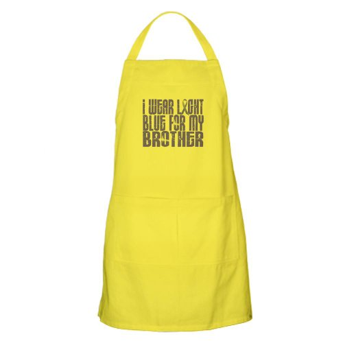 Cafepress I Wear Light Blue 16 Brother BBQ Apron - Standard