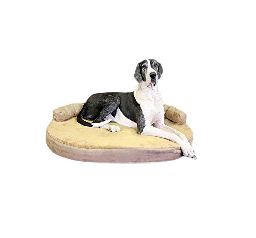 Integrity-Bedding-Orthopedic-Memory-Foam-Joint-Relief-Bolster-X-Large-Pet-Dog-Bed-Toffee