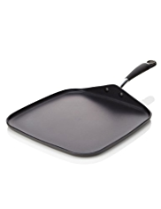 24cm Hard Anodised Griddle Pan