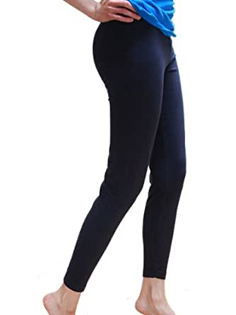 Cotton Spandex Jersey Legging 8328 (X-Small, Navy)