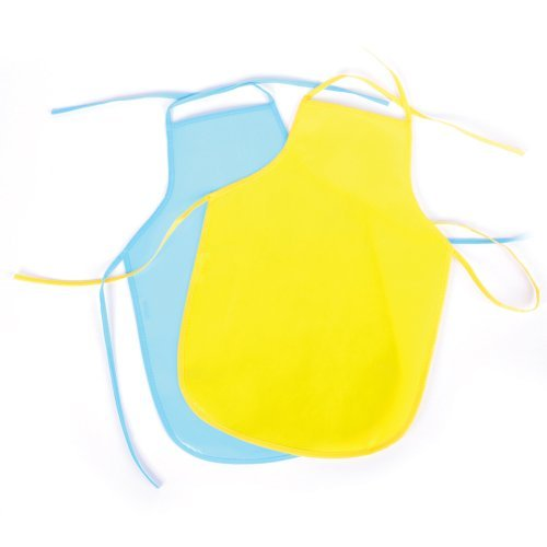 Assorted Colors - ASSORTED CHILDS APRON SMOCK (1 dozen)