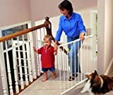 KidCo G20 Black Safeway Wall Mount Top of the Stair Gate