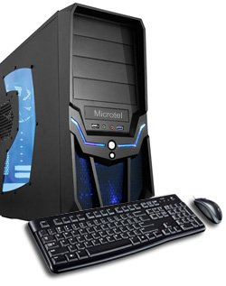 Microtel Computer® AM7065 Gaming Computer with 2.7GHz AMD Phenom II X6 1045t Processor, 16GB DDR3/1333, 2TB Hard Drive 7200RPM, 24x DVD-RW, Nvidia Geforce 550 GTX-TI 1GB GDDR5 Video Card, Microsoft Windows 8 Full Version CD - 64 bit. Monitor NOT included