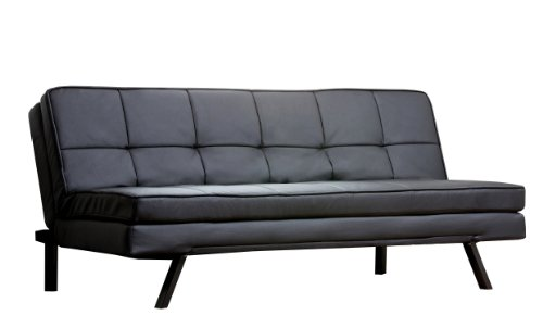 Abbyson Living Bayside Leather Convertible Sofa with Double Cushion (Italian Bed Furniture compare prices)