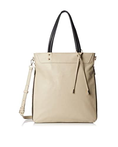 rian Women's Perforated Detail Tote, Taupe