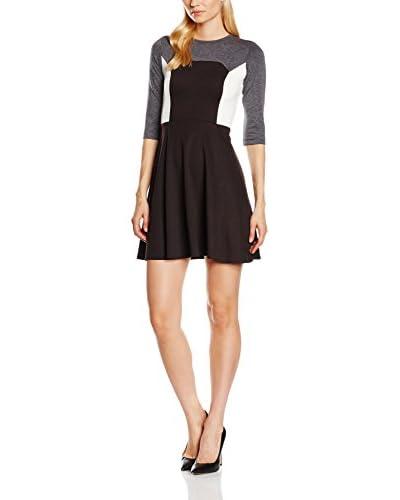 Maiocci Vestido Negro / Gris / Blanco