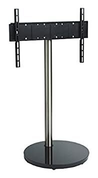 "B-Tech BTF801 55"" Portable flat panel floor stand Black, Stainless steel flat panel floorstand - flat panel floor stands (Black, Stainless steel, Portable flat panel floor stand, 139.7 cm (55""), TV, 30 kg, 600 x 400 mm)"