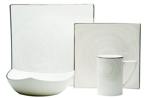 Red Vanilla Orbit 16-Piece Dinnerware Set