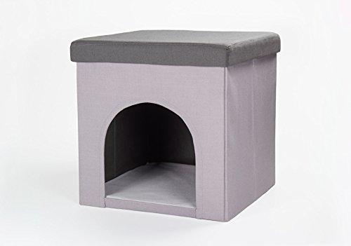 Hundehöhle und Hocker grau, Tierhöhle, Sitzhocker thumbnail