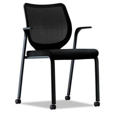Hon Multi-Purpose Stacking Chair, 27 by 26-1/4 by 37-1/8-Inch, Black