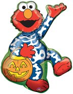 "Elmo Halloween Super Shape 30"" Foil Balloon - 1"