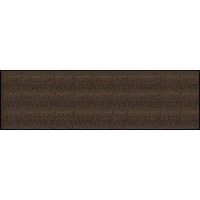 Chevron RibTM Indoor Entrance Mat 3x10 Colors Dark Brown
