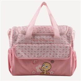 2 Piece Beyje Durable Large Capacity Multifunctional 600D Baby Diaper Bag (Pink)