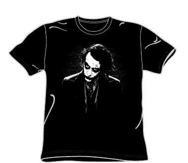 The Dark Knight - Dark Joker Adult T-shirt in Black - Ships in ''24'' Hours!, Size: Large