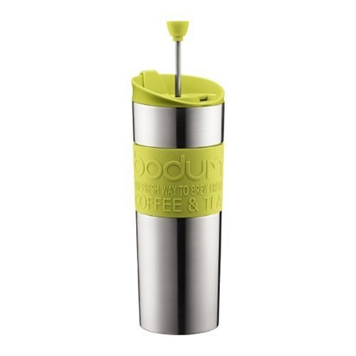 Vacuum Coffee Maker: Bodum Stainless Steel 16-Ounce Vacuum Travel Press Coffee Maker with Green ...