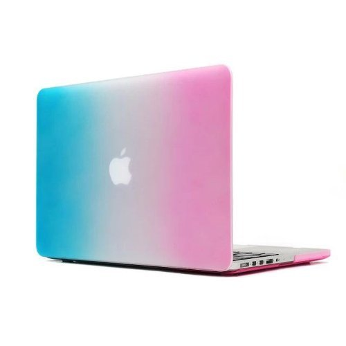 "Mocase Macbook Pro 13"" 13.3 inch with Retina Display A1425 and A1502 Rubberized Hard Protective Skin Cover Chic/Cute Case for Retina 13 inch Apple Macbook (Colorful Rainbow)"
