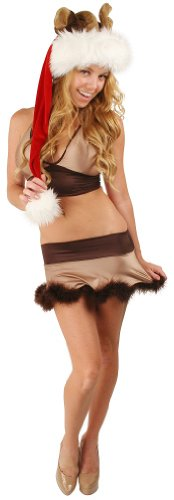 Delicate Illusions Women's Reindeer Christmas Costume