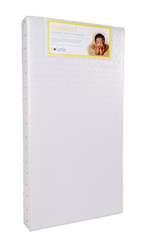 Colgate Classica I - Lightweight Foam Crib Mattress with Waterproof Cover, White (Colgate Extra Firm Crib Mattress compare prices)