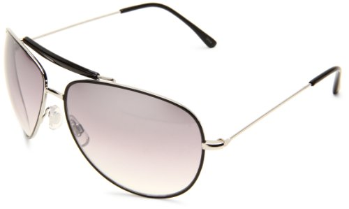 union-bay-mens-u864-silver-aviator-silver-frame-smoke-gradient-lens-one-size