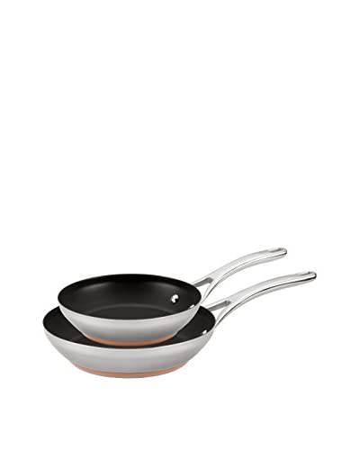 Anolon Nouvelle Copper Stainless Steel Nonstick Skillet Twin Pack