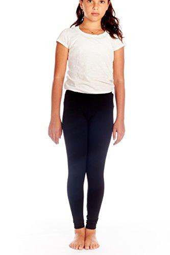 Crush Girls Seamless Solid Color Leggings Pants Size 7 - 16 Black