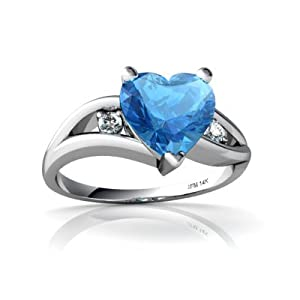 1.75 Ct Pear Blue Sapphire Diamond Halo Engagement Ring 14k Gold Over Size 4-13
