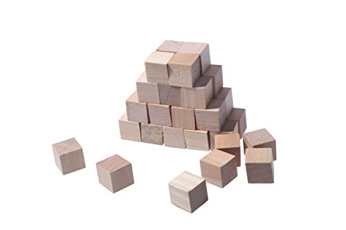 Small blank plain wood cube stacking blocks puzzle for Plain wooden blocks for crafts