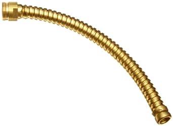 """Justrite 08930 8"""" Brass Flex Faucet Extension"""