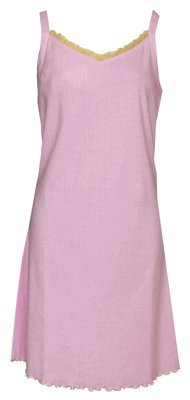 RocketWear Women's Serenity Pink/White Stripes Cotton Knit Chemise/Nightgown Large