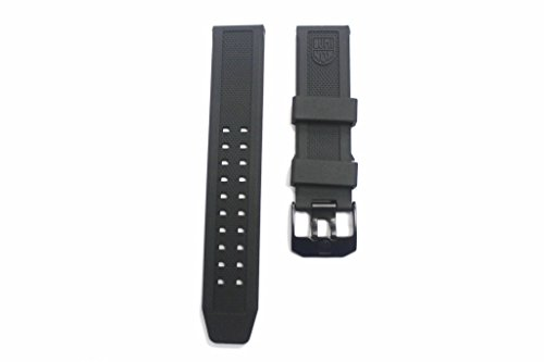 LUMINOX Replacement Rubber Watch Band Strap with PVD Black Buckle EVO Navy SEAL Colormark 3050 3950 8800 (Navy Seal Watches Luminox compare prices)