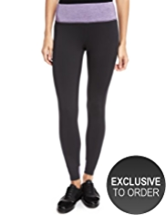 M&S Collection Active Performance Space-Dye Waistband Leggings