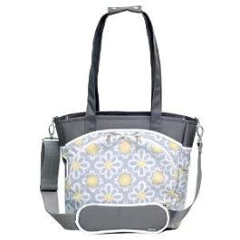 Laminated canvas 100% polyfill JJ Cole Mode Diaper Tote Bag changing pad included - Lemon Posy Nourrisson, Bébé, Enfant, Petit, Tout-Petits