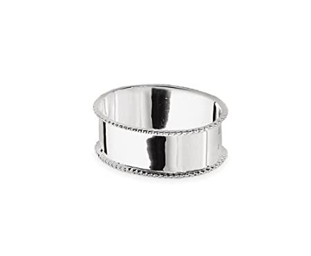 Napkin Ring Beaded Edge L 6 cm, Sterling Silver 925