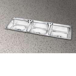 Elkay LTR5422102 Lustertone Bowl Triple Basin Kitchen Sink