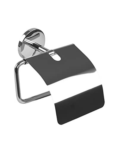 Nameek's Vermont Toilet Paper Holder With Cover, Chrome