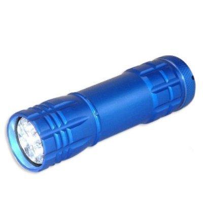 9 LED Heavy-Duty Compact Aluminium Flashlight - Blue