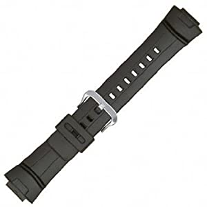 Casio Style Watchband Fits Casio G-Shock G-100,G-101, G-2300,G-2310, and GW-2310   Black Polyurethane 16mm - by JP Leatherworks