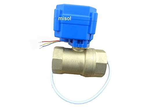 """Misol 1Pcs Of Motorized Ball Valve 1/2""""(Bsp)Dn15 / 12Vdc / 2 Way / Electrical Valve / Ball Valve With Acuator / Cr02"""