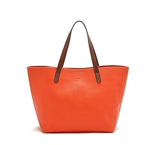 Buenocn 2014 Women Shoulder Bag Pu Leather Handbags Totes Ls3230 (orange)