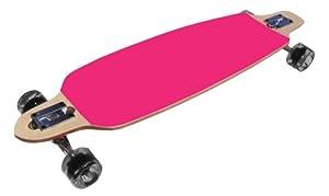 Pink Drop Through Thru Complete Longboard Skateboard
