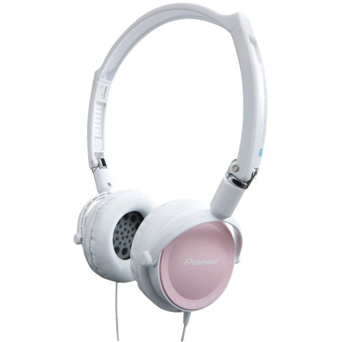 Pioneer On-Ear Dj-Inspired Stereo Headphones- White/Pink