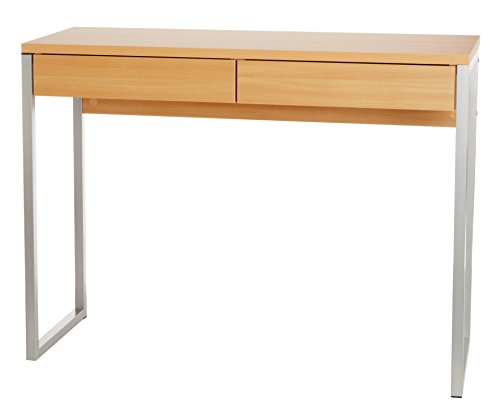 2-Drawer-Occasional-Desk-Old-Beech-with-Steel-Legs