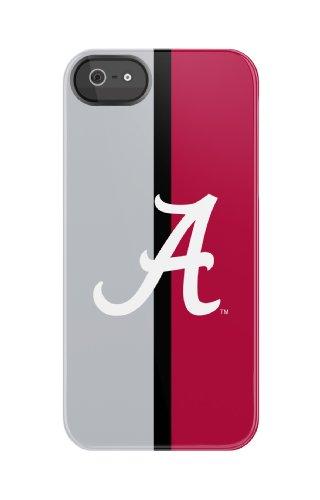 Uncommon Llc C0060-Cn University Of Alabama Half Color Black Bezel Deflector Hard Case For Iphone 5/5S - Carrying Case - Retail Packaging - Crimson/White