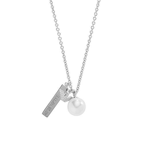 Emporio Armani collana Donna argento 925  Finta perla