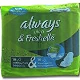 THREE PACKS of Always Ultra & Freshelle Normal Plus Pads With Wings